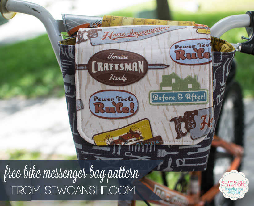 free bike messenger bag pattern