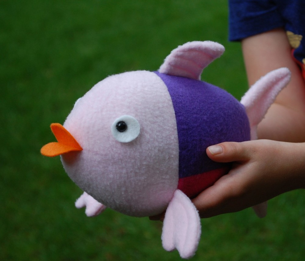 Penny the fish plushie from Abby Glassenberg