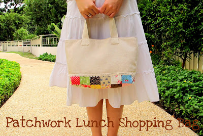 Patchwork Lunch Shopping Bag from jojo bi designs