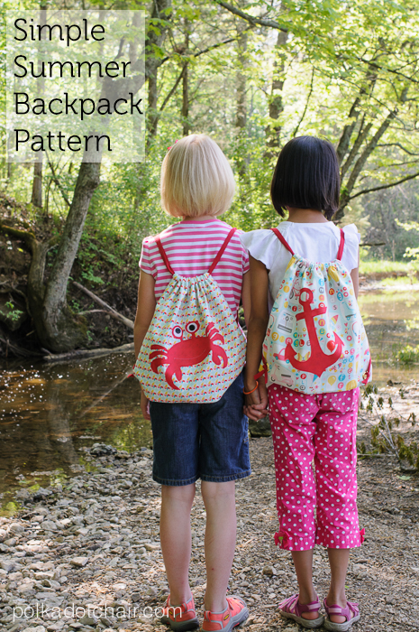 Super Simple Drawstring Backpacks from Riley Blake Designs