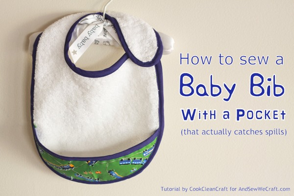 Pocket Catcher Baby Bib from And Sew We Craft