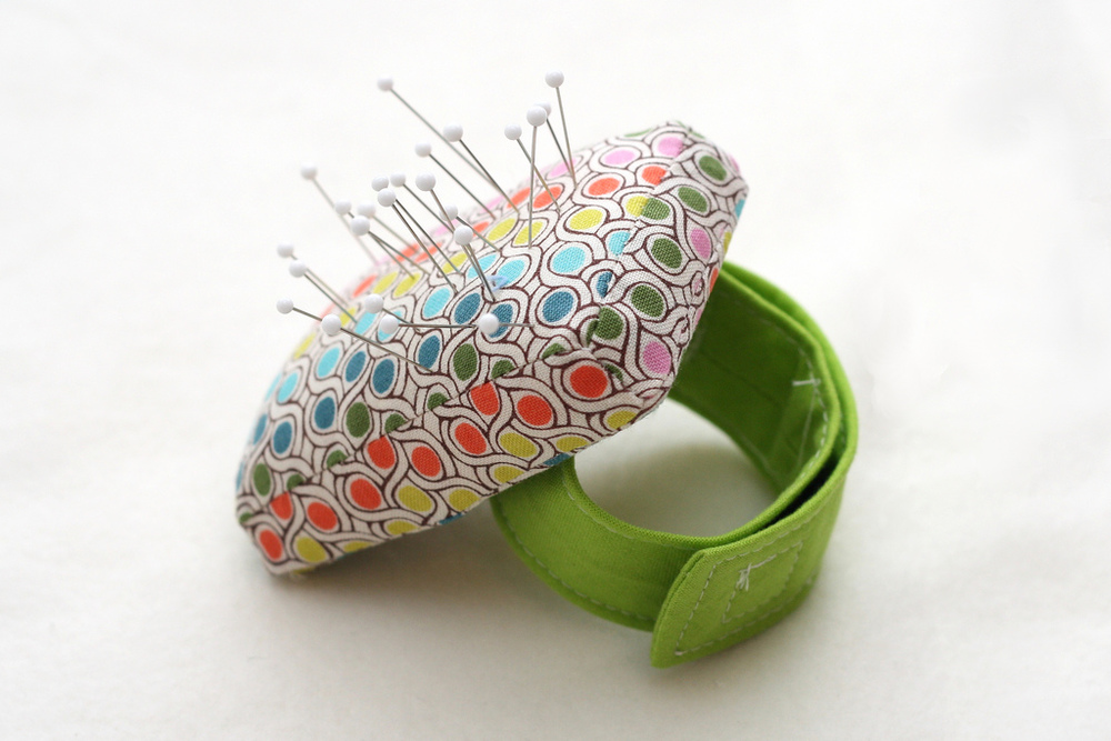 Wrist Pincushion from Stitched by Crystal