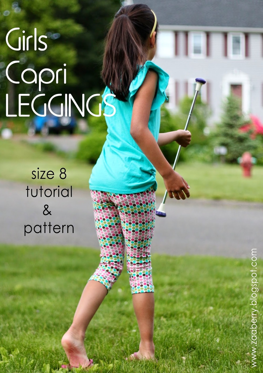 Little girls Capri Leggings From Zaaberry