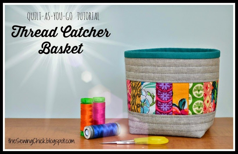 Quilt-as-you-go Thread Catcher from The Sewing Chick