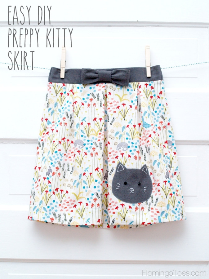 EASY DIY PREPPY KITTY SKIRT from Flamingo Toes