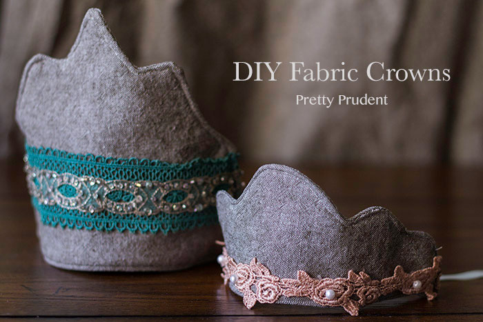 DIY Fabric Crowns from Pretty Prudent