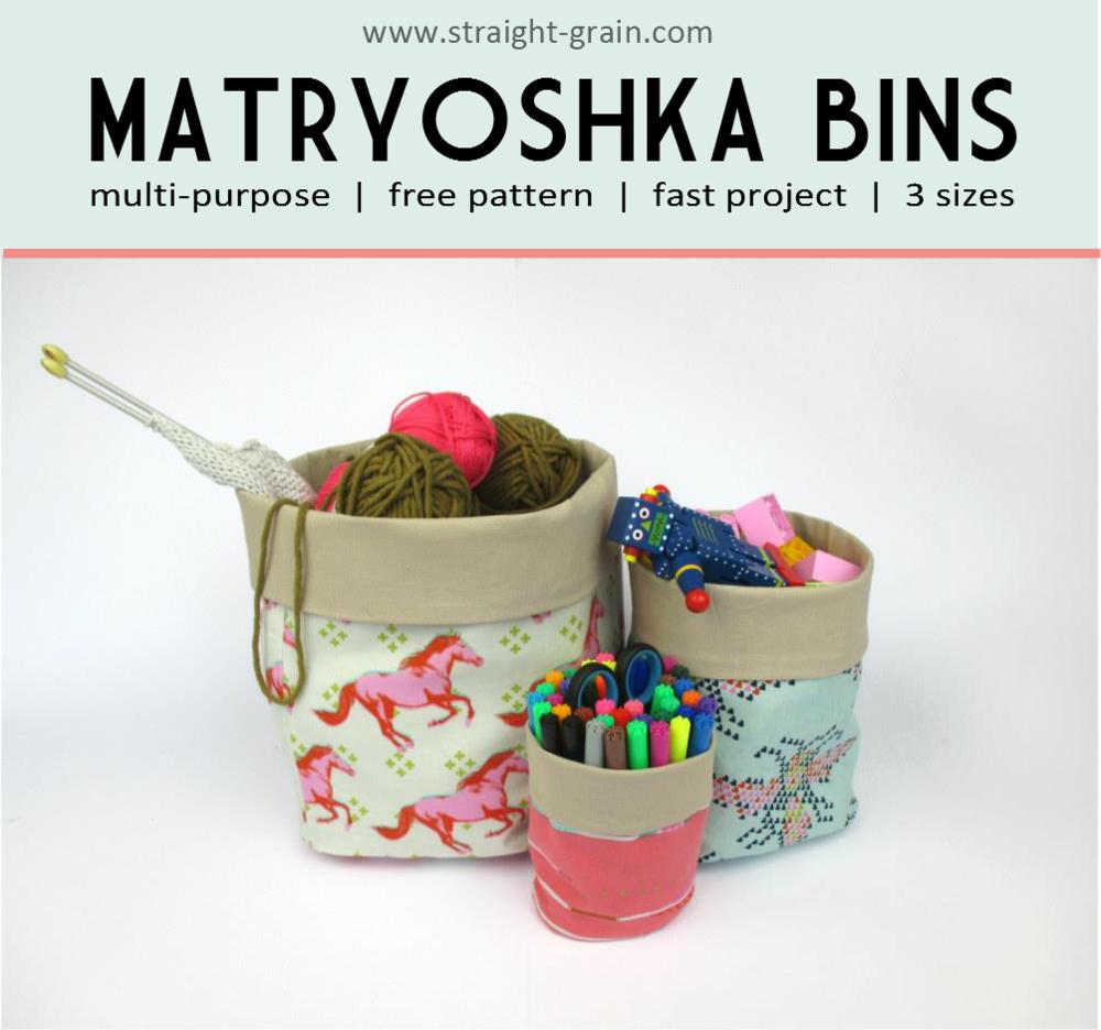 Matryoshka Bins by StraightGrain