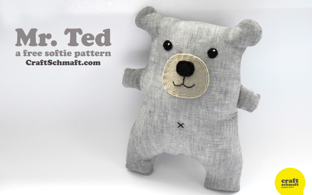 Mr. Ted Tutorial from Craft Schmaft