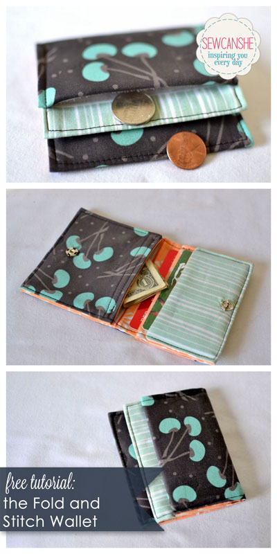 Yardage Book Cover Diy : Fold and stitch wallet free tutorial — sewcanshe