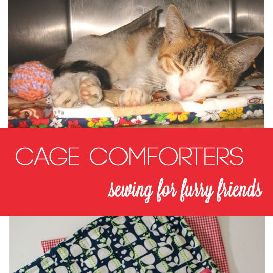 How to sew cage comforters.