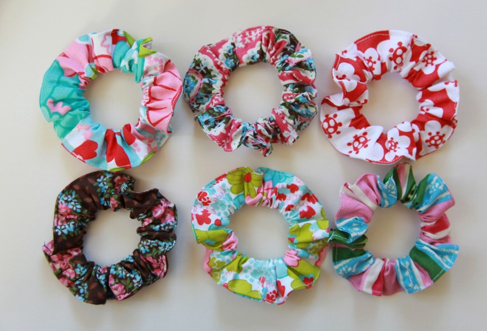 How to make scrunchies from Minki's Work Table