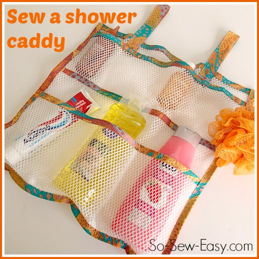 Mesh Shower Caddy from So Sew Easy