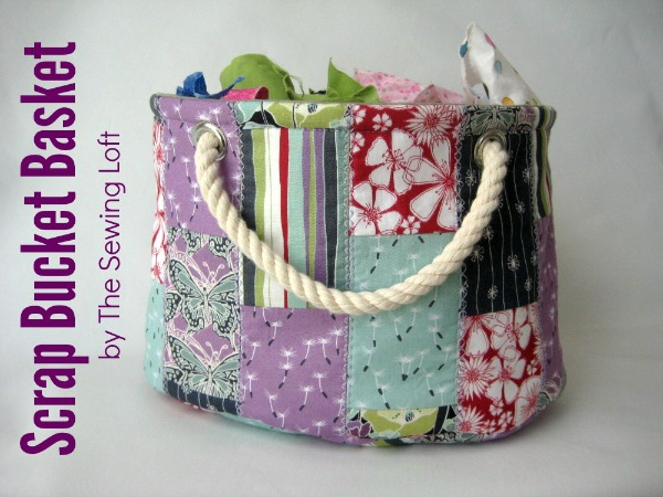 Stackable Scrap Bucket Pattern from The Sewing Loft