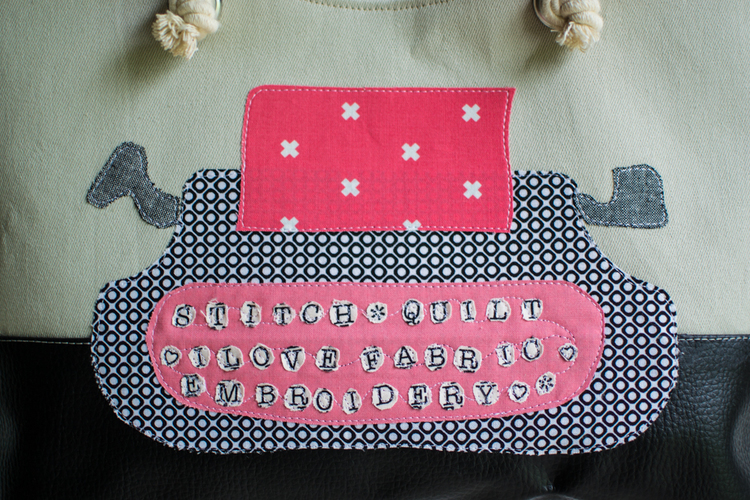 Applique of the Month: The Texty Typewriter — SewCanShe | Free ...