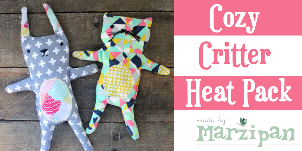 Cozy Critter Heat Pack with Made by Marzipan from Fat Quarter Shop