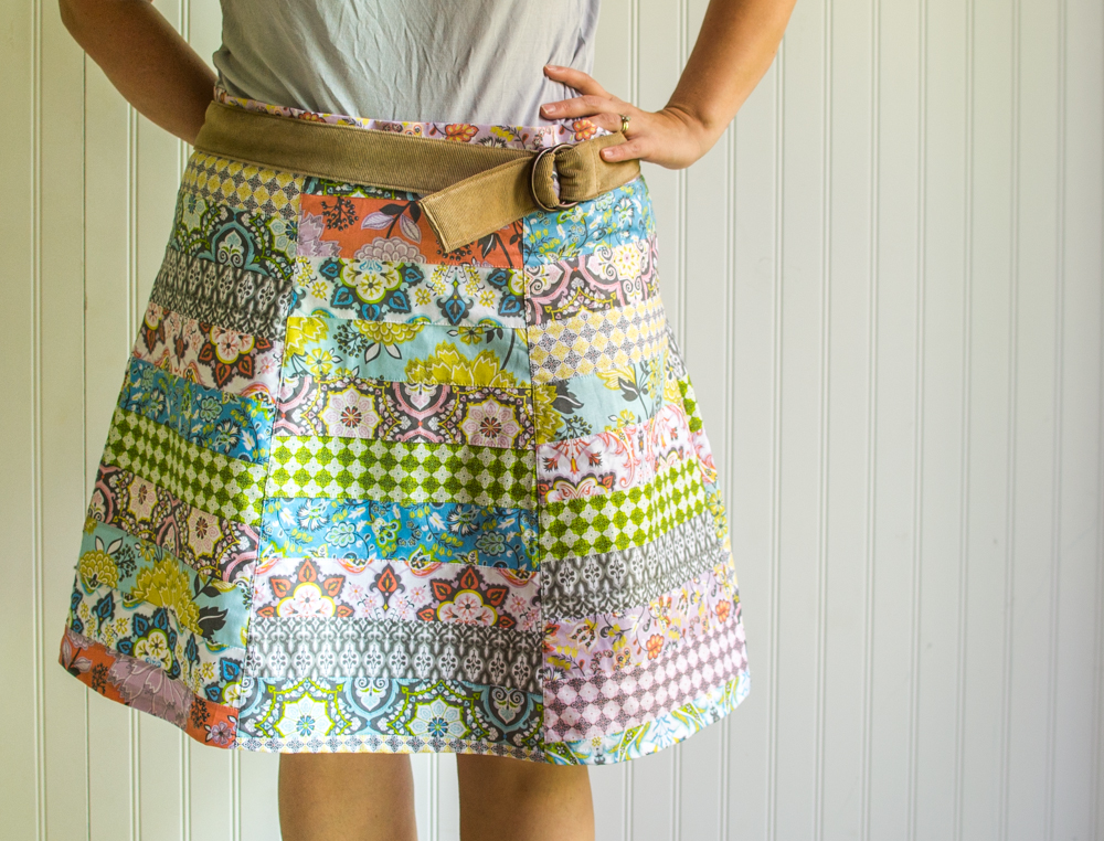 My DIY Patchwork Skirt stitched with the Turkish Delight collection from Blend Fabrics.