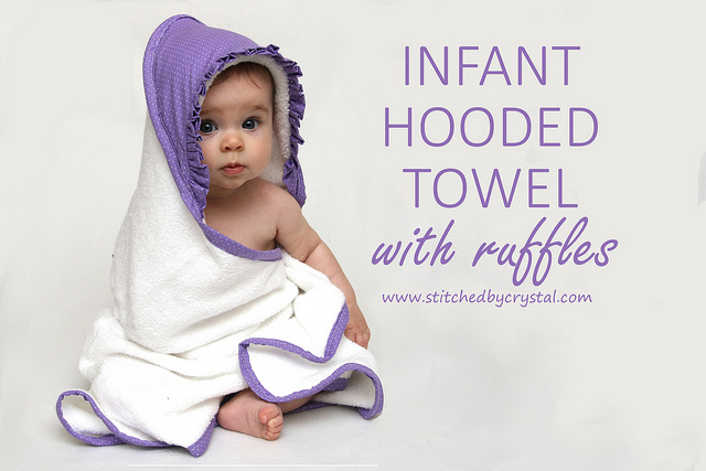 Infant Hooded Towel - Girly Style! from Stitched by Crystal