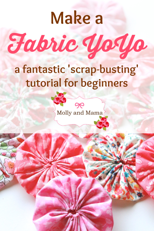 Fabric Yo Yo or Suffolk Puff from Molly and Mama