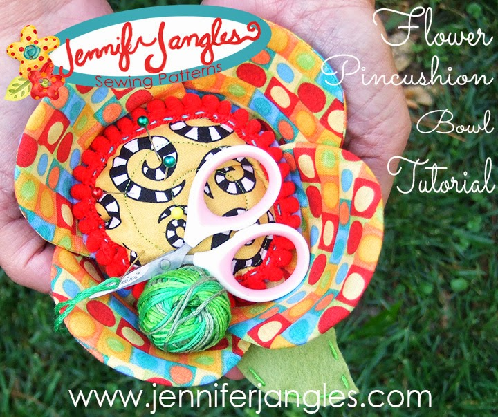 Flower Pincushion and Bowl Project from Jennifer Jangles