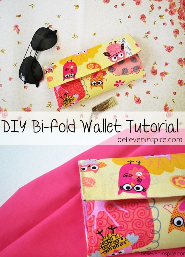 DIY Wallet Tutorial from Believe and Inspire