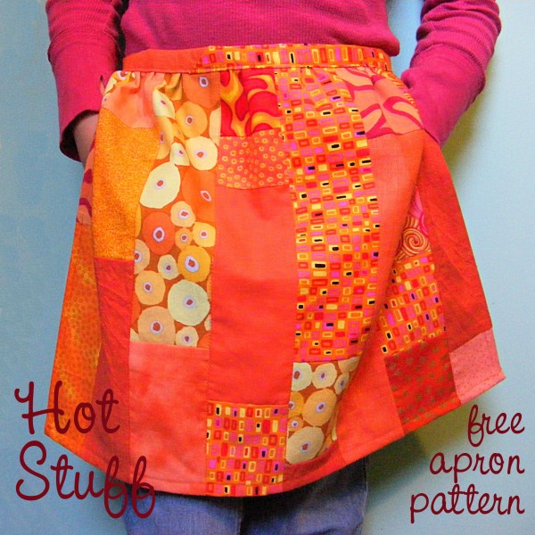Hot Stuff free apron pattern