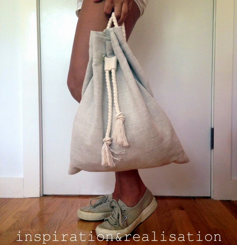 DIY: slouchy backpack from Inspiration Realization