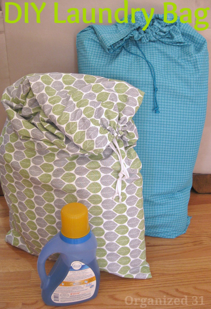DIY Laundry Pillowcase Bag from Organized 31