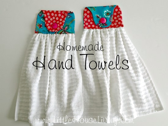 Homemade Hand Towel from Little House Living