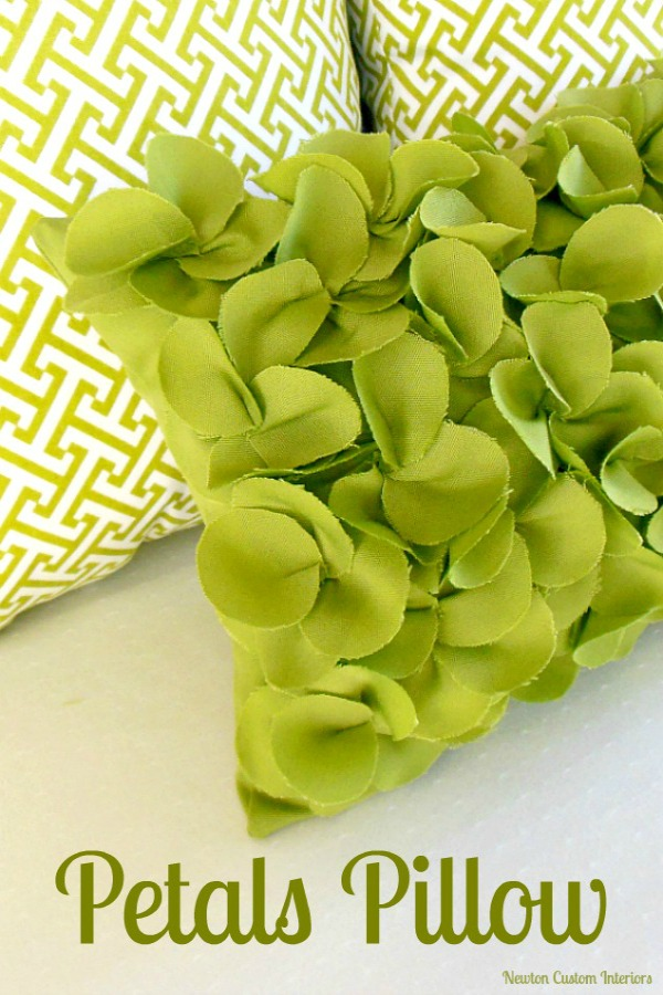 Petals Pillow from newton custom interiors
