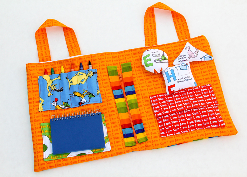 Airplane Tray Activity Center from sew mama sew