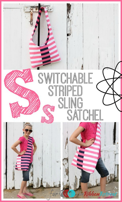 Switchable Striped Sling Satchel from The Ribbon Retreat