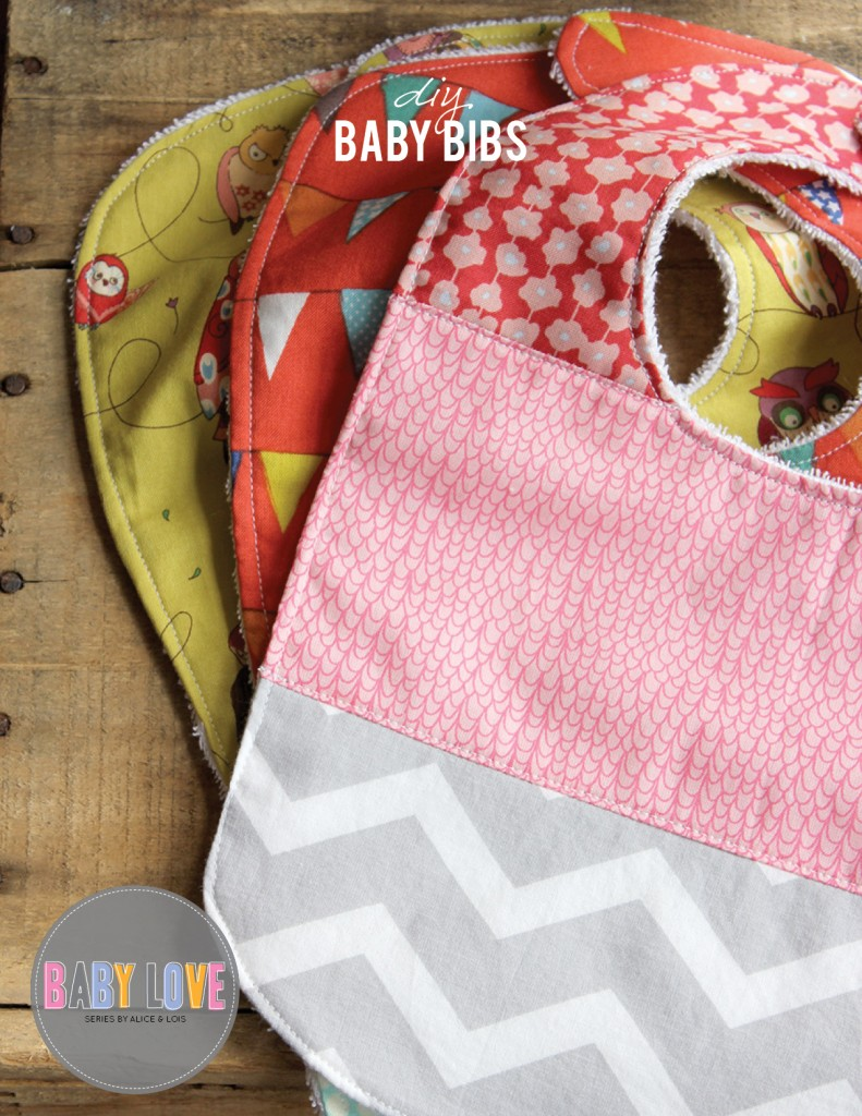 DIY Baby bibs from Alice & Lois