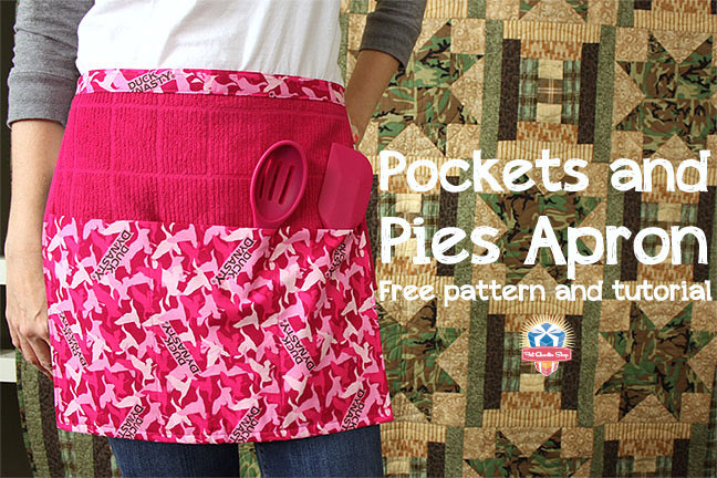 Pockets and Pies Apron - Free Pattern and Tutorial from Fat quarter shop