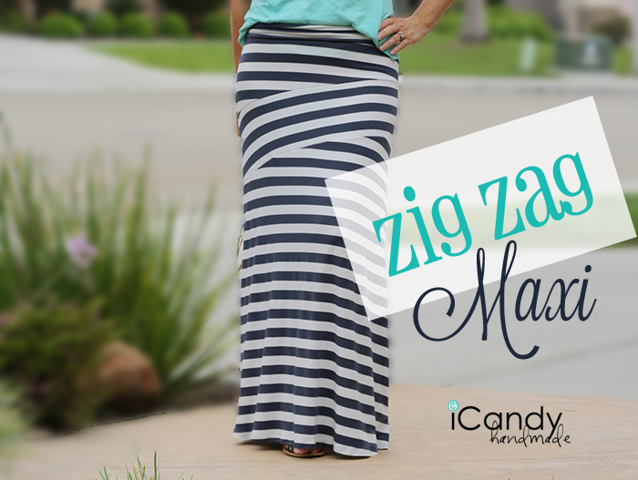 Zig Zag Maxi Skirt from iCandy Handmade
