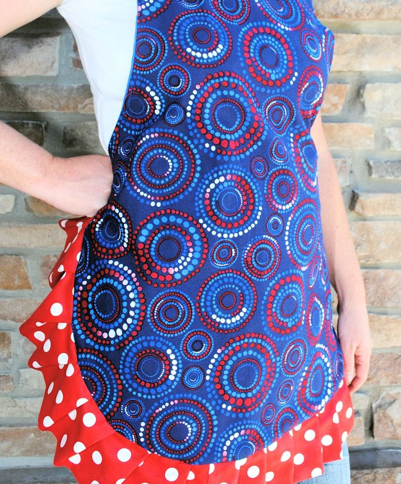 Cute Ruffled Apron from Cut Little Projects