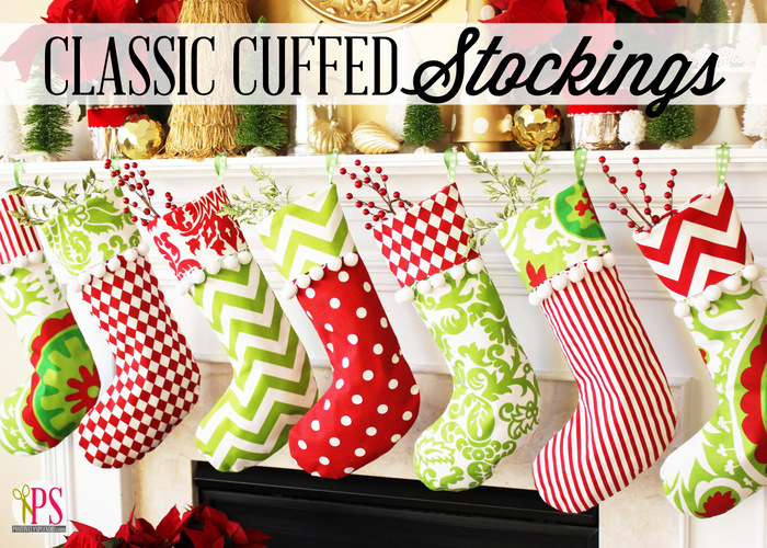 Classic Cuffed Christmas Stocking Pattern from Positively Splendid