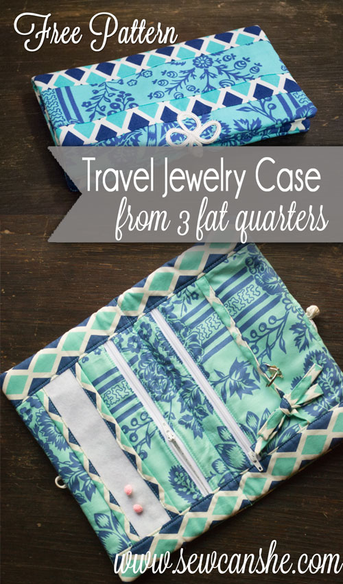 Free Pattern: Travel Jewelry Case — SewCanShe