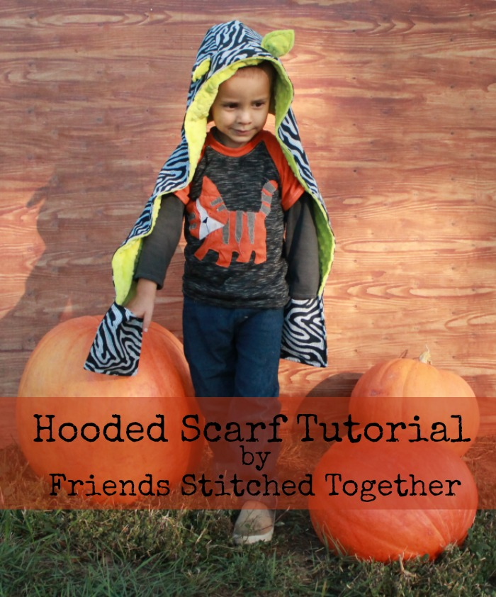 Hooded Animal Scarves from Friends Stitched Together