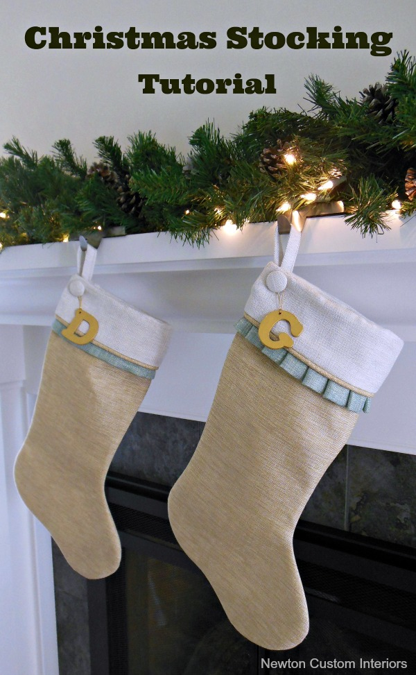 Christmas Stocking Tutorial from Newton Custom Interiors