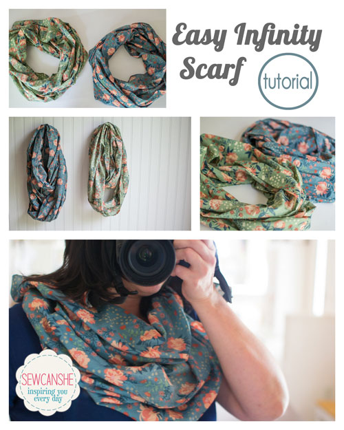 Easy DIY Infinity Scarf - with just a yard of fabric! {tutorial ...