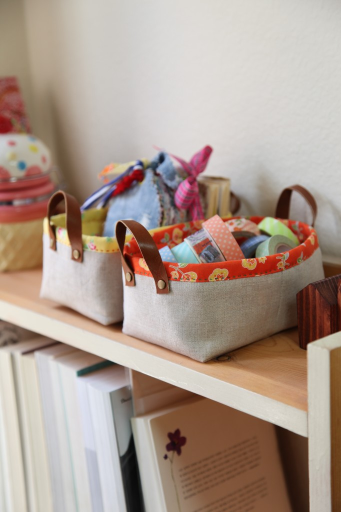 Fabric storage baskets from Minki's Work Table