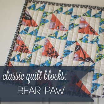 classic quilt block: the Bear Paw