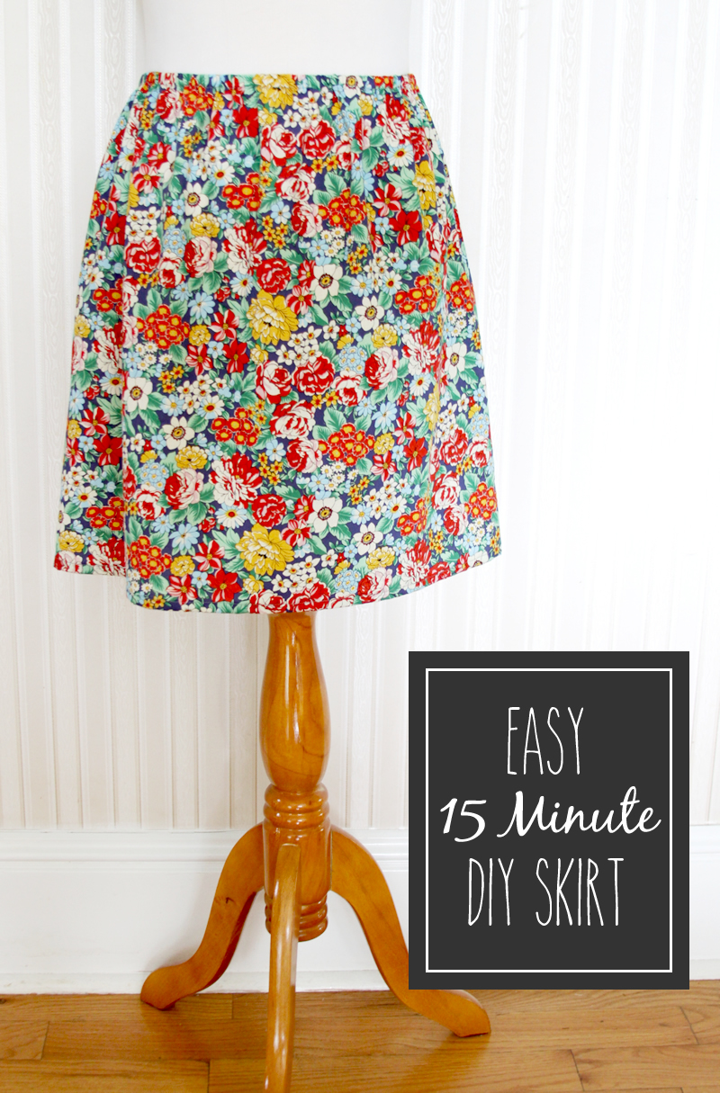 CUTE AND EASY 15 MINUTE DIY SKIRT from Flamingo Toes