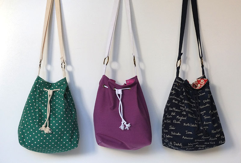 The Fairly Bucket Bag–Free Pattern and Tutorial  from Sew Mama Sew