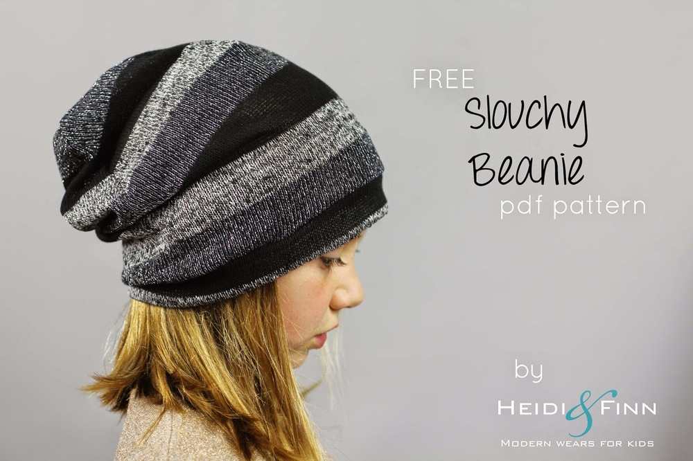 7a9c3275bb2 Slouchy Beanie hat - FREE pattern from Heidi and Finn