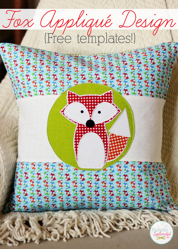 Fox Appliqué Design Free Templates from Positively Splendid