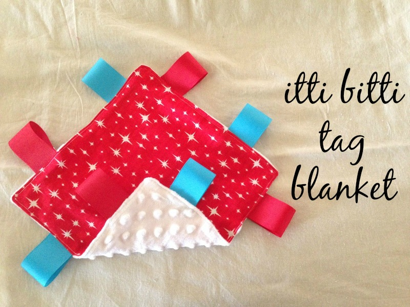 {Tutorial} Itti Bitti Tag Blanket from And Sew We Craft