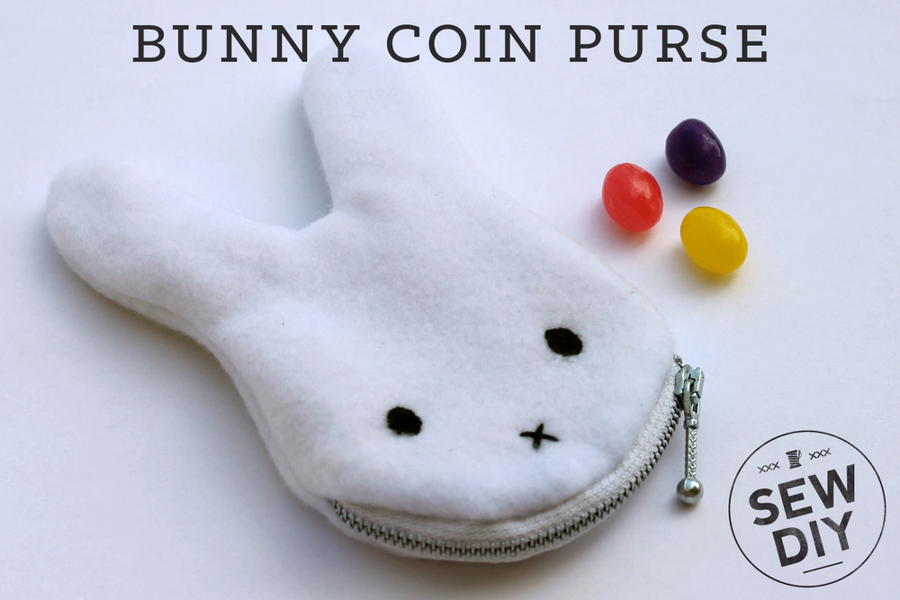 DIY TUTORIAL BUNNY COIN PURSE (WITH FREE PATTERN) from Sew DIY