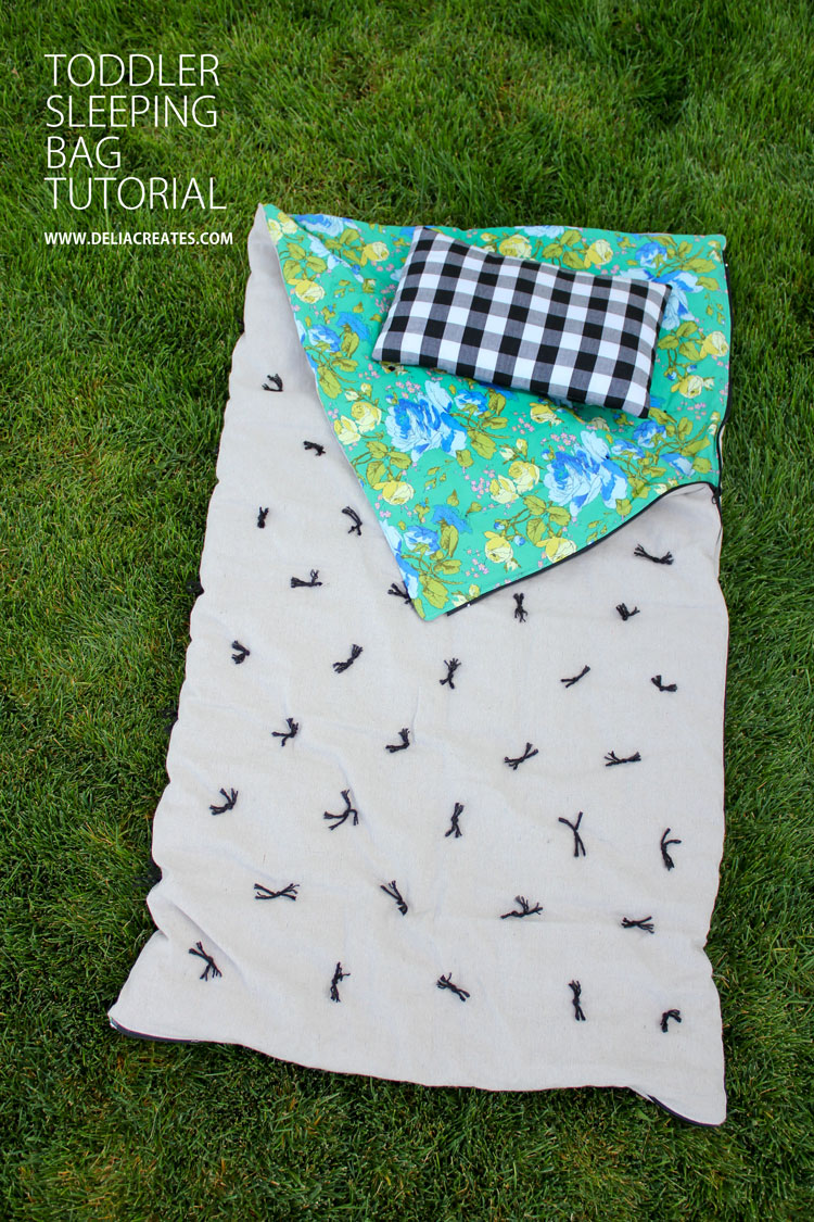 DIY Toddler Sleeping Bag TUTORIAL from Delia Creates