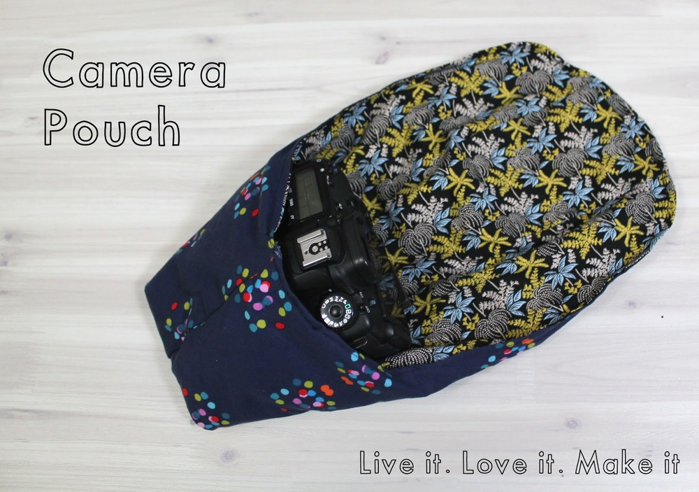 CAMERA POUCH WITH PDF DOWNLOAD from  Live It. Love It. Make It.